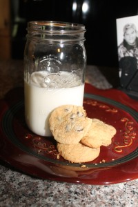 Now, enjoy a awesome glass of milk and awesome homemade cookies!