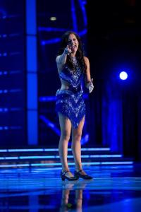 Miss Idaho Sierra Sandison performing her talent during preliminary competition at Miss America.