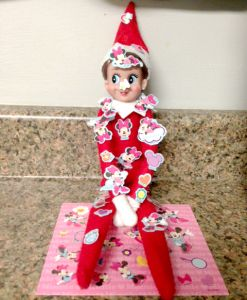 Sticker Covered Elf!