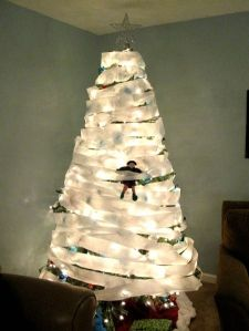 Oh, I love this one! Mischief! The elf tp'd the Christmas tree!