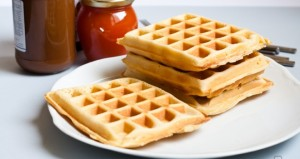 Waffles!! Who doesn't love waffles in the morning?! I know I do....I don't however like getting up to make them. So...I make them on a Saturday afternoon when I have time. Let them cool, ziplock baggies, and freeze.